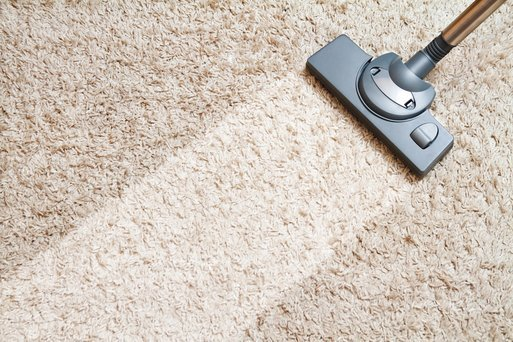 Vacuum path on carpet
