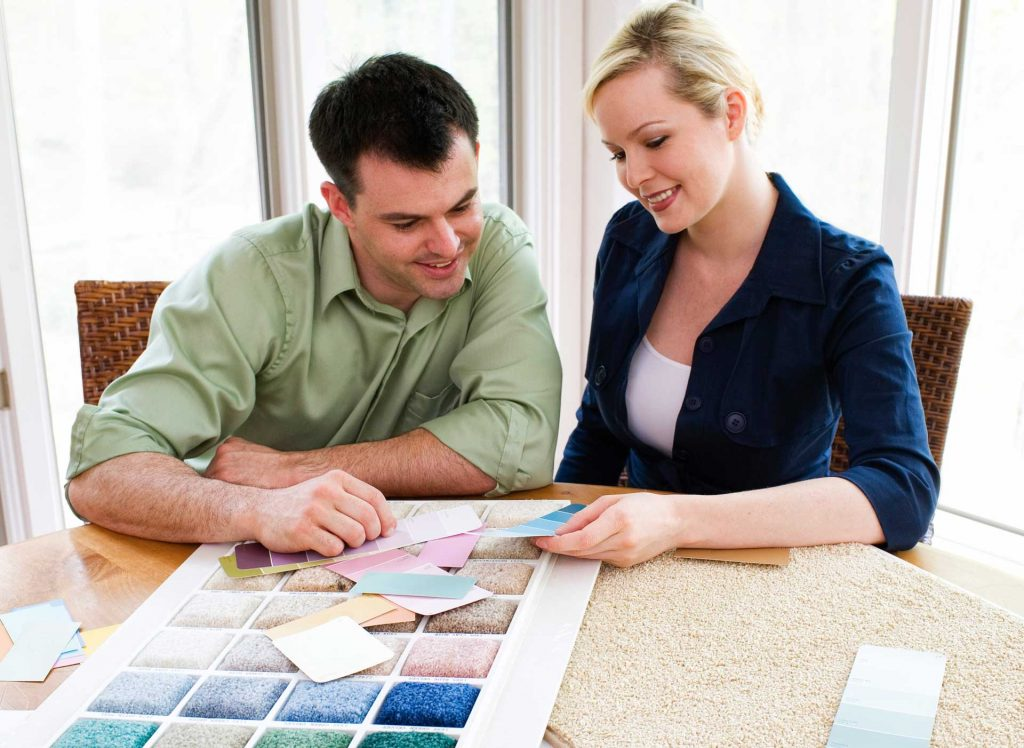 Couple with interior designer